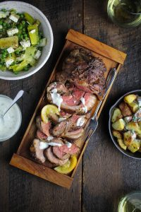 Boneless Leg of Lamb with Preserved Lemon, Harissa, and Rosemary Butter - Sunday Dinner: Easter Edition {Katie at the Kitchen Door}