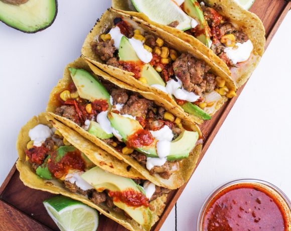 Corn and Chorizo Tacos
