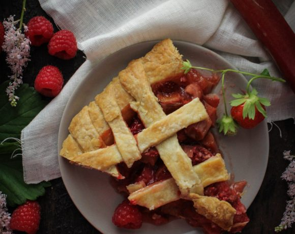 Strawberry-Raspberry-Rhubarb Pie