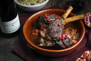 Moroccan Braised Lamb Shanks {Katie at the Kitchen Door}