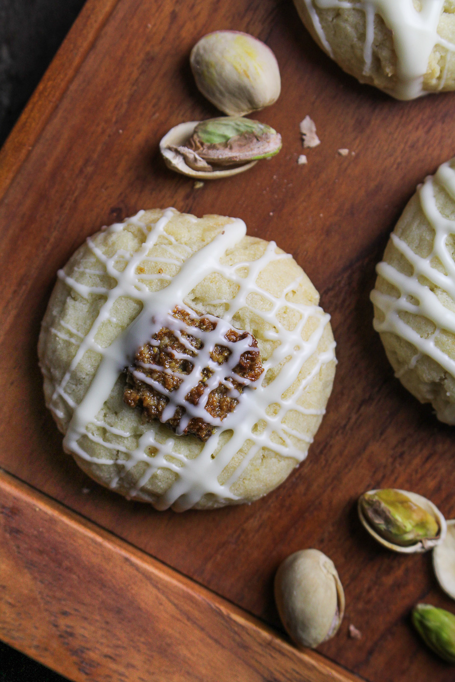 Pistachio Thumbprint Cookies {Katie at the Kitchen Door}