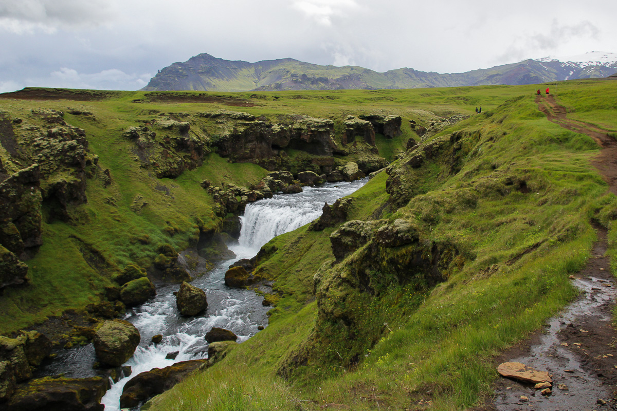 Fimmvörðuháls Waterfall Hike, Iceland
