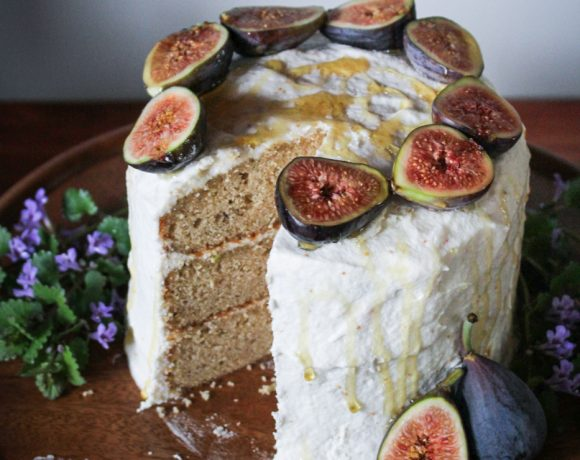 Earl Grey Cake with Honey-Fig Buttercream