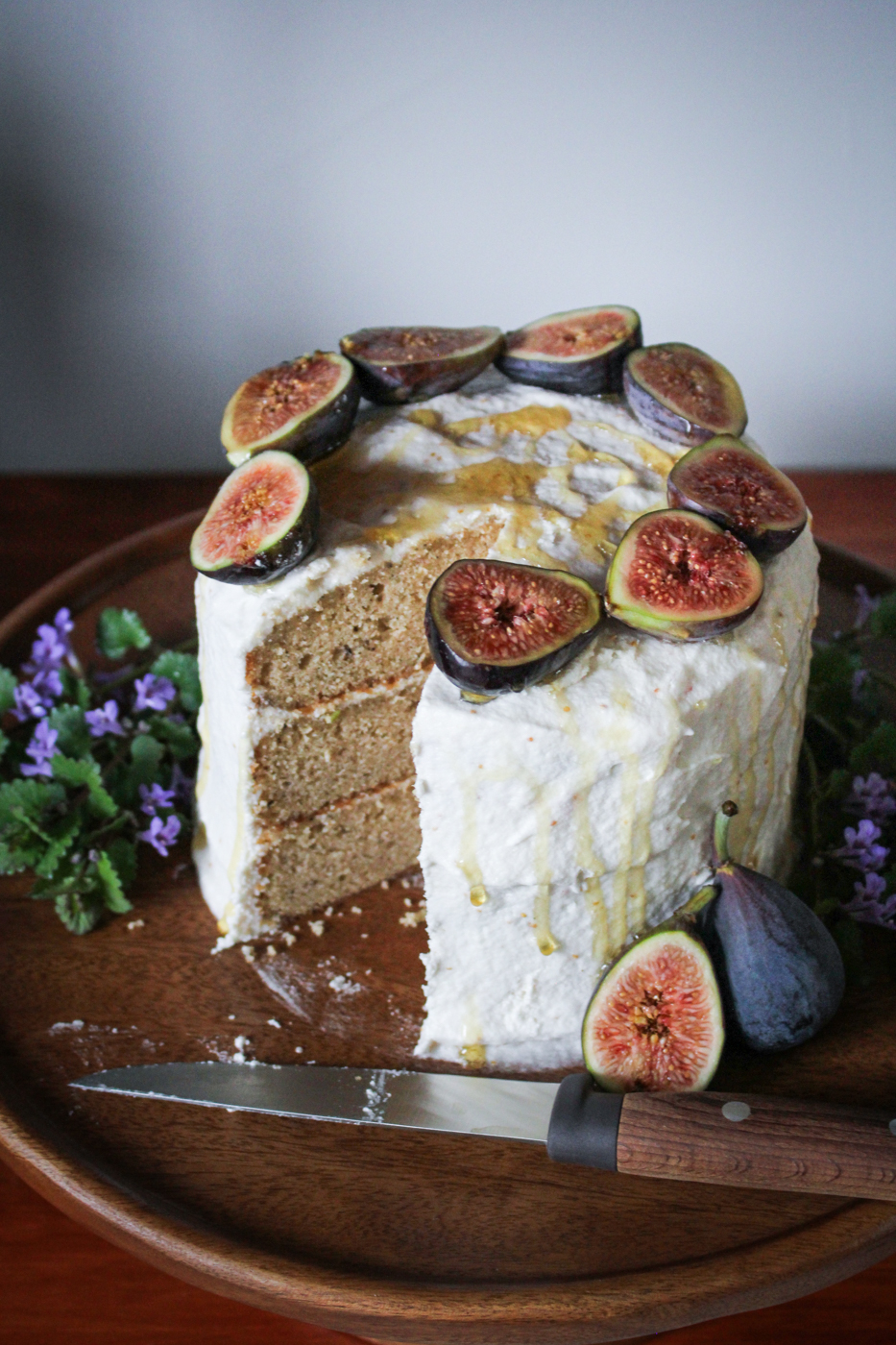 Earl Grey Cake with Fig Jam Buttercream {Katie at the Kitchen Door}