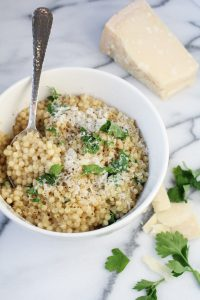 "Israeli Couscous ""Pastina"" with Parmesan and Black Pepper {Katie at the Kitchen Door}"